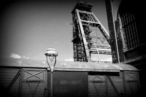 Wieża szybowa kopalni